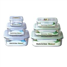Go Green Glasslock Assorted 6-Piece Food Storage Container Set