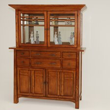 "Arts and Crafts Bungalow 31"" H x 53.5"" W Desk Hutch"