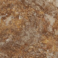 "DuraCeramic Rapolano 15"" x 15"" Vinyl Tile in Terra Brown"