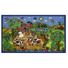 Fun Time Happy Farm Kids Rug