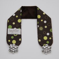 Dot Green Minky Nursing Blanket Strap