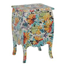 Menagerie Flower Power 2 Drawer Side Bombay Chest