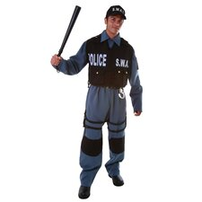 Deluxe Adult's S.W.A.T. Police Office Adult's Costume