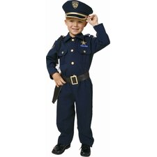 Award Winning Deluxe Police Dress Up Children's Costume Set