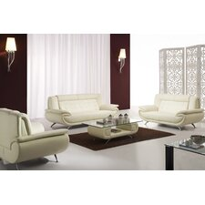 Curve Leather Living Room Collection