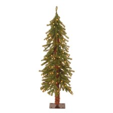 4' Green Hickory Cedar Artificial Christmas Tree with Pre Lit Lights