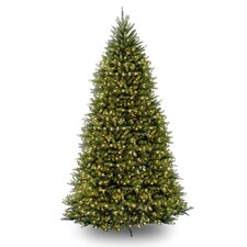 Dunhill Fir 10' Green Artificial Christmas Tree with 1200 Pre-Lit Clear Lights with Stand