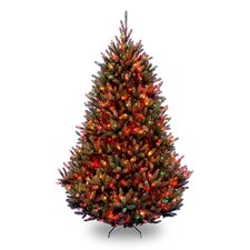 Natural Fraser 7.5' Green Medium Fir Artificial Christmas Tree with 1000 Pre-Lit Multi-Colored Lights with Stand