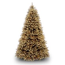 Douglas Fir Downswept 6.5' Beige Artificial Christmas Tree with Clear Lights with Stand