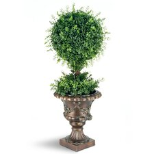 Tea Leaf 1-Ball Topiary in Urn