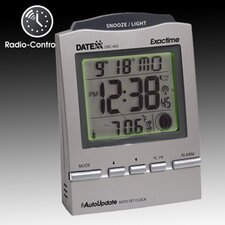 Radio Control Desk Alarm Clock with Calendar, Moon Phase