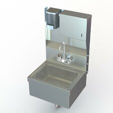 "NSF 17"" x 15"" Hand Wash Sink with Faucet"