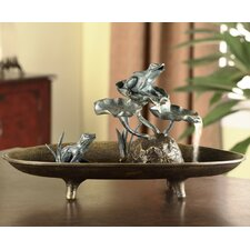 Frog Couple Table Fountain Statue