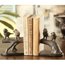 Bird Pair on Branch Bookends (Set of 2)