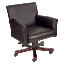 Caressoft Mid-Back Executive Chair with Box Arms