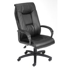 Pillow Top Design High-Back LeatherPlus Office Chair