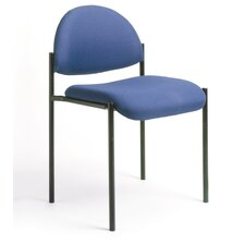 Contemporary Armless Fabric Stackable Chair