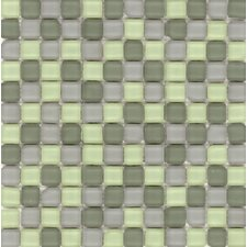"Elida Glass 12"" x 12"" Mosaic in Tumbled Mint"