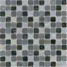 "Elida Glass 43/50"" x 43/50"" Mosaic in Black Oil"