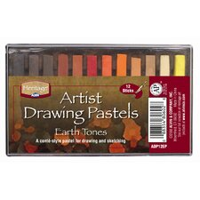 Earthtone Drawing Pastels (Set of 12)