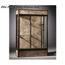 Series 93 Elite Freestanding Display Case - With Cornice and light