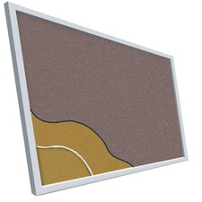 Vinyl-Covered Cork Plate Tackboard Series 713 - Aluminum Trim