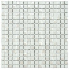 "Posh 11-3/4"" x 11-3/4"" Pixie Porcelain Mosaic Wall Tile in White"
