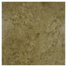 "Malago 19-3/4"" x 19-3/4"" Glazed Porcelain Floor and Wall Tile in Noce"