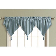 Anna Ascot Faux Silk Rod Pocket Swag Curtain Valance