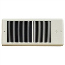 Low Profile Fan Forced Wall Electric Space Heater with Wall Box