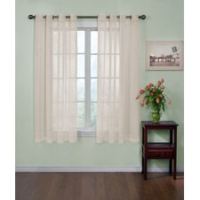 Odor-Neutralizing Sheer Voile Grommet Curtain Single Panel