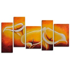"Hand Painted ""Cloaked in Light"" 5-Piece Canvas Art Set"