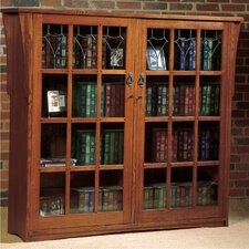 Mission Double Door Deluxe Bookcase
