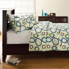 Scratched Circles Quilt Set