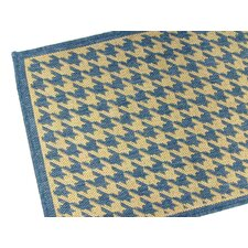 Houndstooth Blue Rug