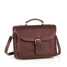 Single Compartment Leather Briefcase