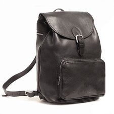 Large Leather Backpack with Front Pocket