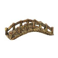 Design Elements Log Arch Bridge Aquarium Ornament