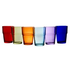 6 oz. Color Pop Stack Juice Glass (Set of 6)