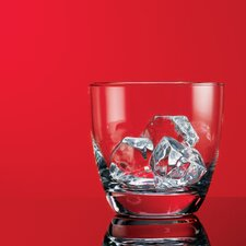 Red Series 10 oz. Round Double Old Fashioned Glass (Set of 4)