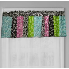 Peace Sign Cotton Curtain Valance