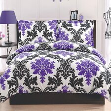 Delany Damask 2 Piece Comforter Set