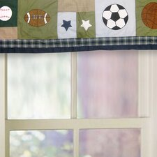 Sports Collage Cotton Curtain Valance