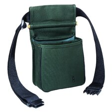 Divided Shell Pouch with Belt in Green