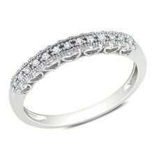 Gold G-H Round Cut Diamond Fashion Ring