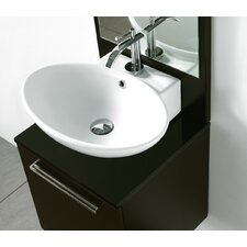 "21"" Oval Above Counter Ceramic Bathroom Sink"