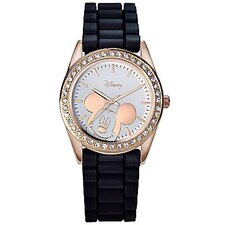 "Womens Mickey Mouse ""Crystal Glitter"" Watch"