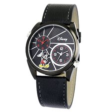 "Mens Mickey Mouse ""Dual-Time"" Strap Watch"