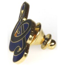 G Clef Pin in Gold and Blue