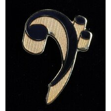 Bass Clef Pin in Gold